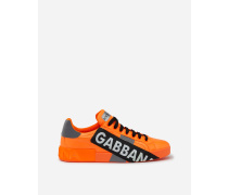 Sneaker Portofino aus Neonfarbenem Nylon mit Logotape