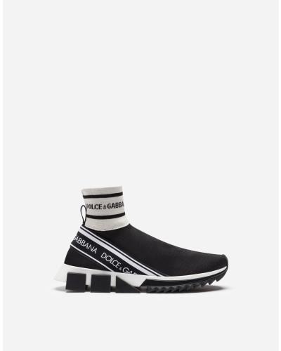 Knöchelhohe Sneaker Sorrento aus Strickstretch