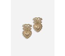 Devotion Ohrringe aus Gelbgold mit Diamanten