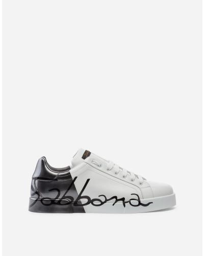 Portofino Sneakers aus Metallic-Kalbslackleder
