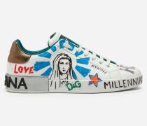 Portofino Sneakers aus Bedrucktem Kalbsleder