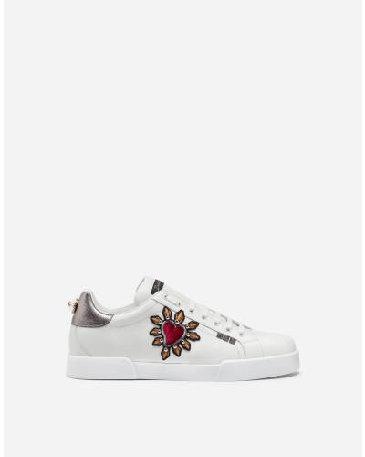 Portofino Sneakers aus Kalbsnappaleder mit Patch