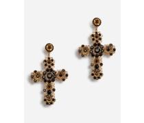 Hänge-Ohrclip mit Kreuz