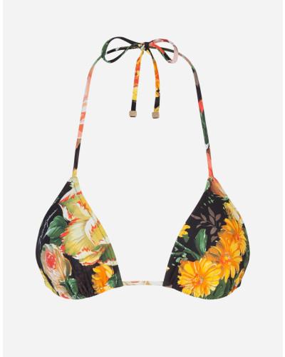 Bedruckter Triangel-Bikinitop