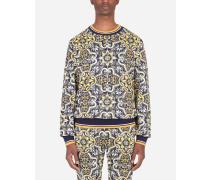 Sweatshirt aus Jersey mit Majolika-Print