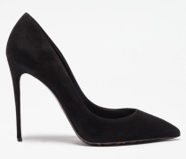 SUEDE PUMP WITH LEOPARD SOLE