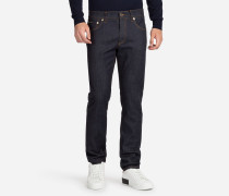 COMFORT FIT JEANS MIT STRETCH IN DUNKELBLAU