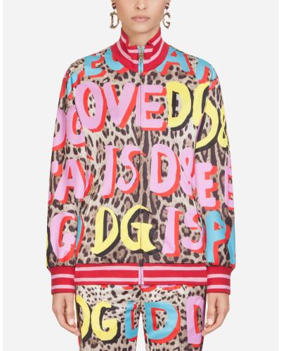 Nylon-Jacke mit LEO Pop-Print