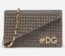 CLUTCH DG GIRLS AUS LAMÉ-STOFF
