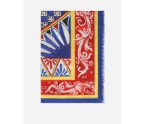 Pareo 110 X 190 aus Baumwolle Carretto-Print