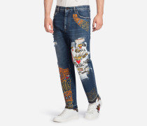 BEDRUCKTE JEANS FIT OVER