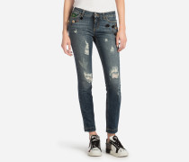 JEANS FIT SKINNY MIT PATCH