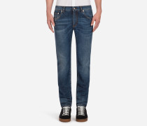 COMFORT FIT STRETCH-JEANS STONE WASHED