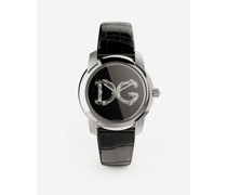 DG7 Barocco Watch With Black Alligator Strap