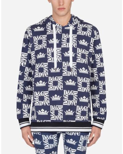 Kapuzen-Sweatshirt aus Bedruckter Baumwolle