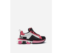 Sneakers Super Queen aus Mehrfarbigem Kalbsleder