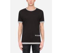 T-Shirt Baumwolle Zweifarbig Dg-Logoprint