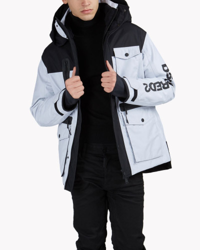 D2 Ski Hooded Multi-Pocket Parka
