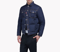 Denim-Nylon Quilted Jacket