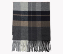 Check Wool Flannel Scarf