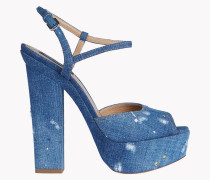 Denim Platform Ziggy Sandals