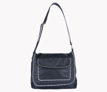 Stud Leather Cross Body Bag