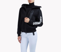 Zipped Hooded Sweat Jacket