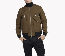 Pocket Memory Twill Bomber Jacket
