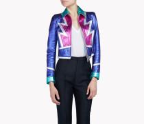 Multi-coloured Metallic Leather Jacket