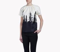 Silk-Chiffon Forest Hemd
