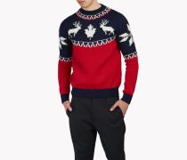 Intarsia Nordic Deers Pullover