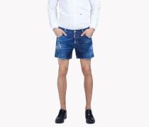 Highlighted Denim Shorts