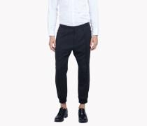Cropped Wool Jogging Pants