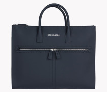 Twin Zip Leather Tote