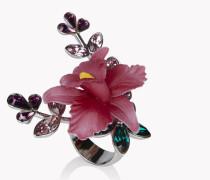 Flower Crystal Embellished Ring