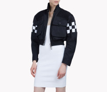 Checkerboard Bomber Jacket