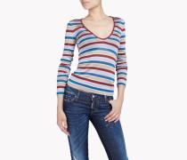Striped Lurex Long Sleeve