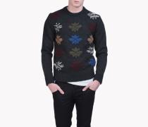 Maple Leaf Argyle Sweater