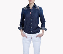 Embroidered Denim Hemd