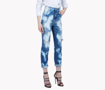 High Waisted Bleached Jeans