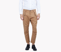 Cropped Cargo Chinos