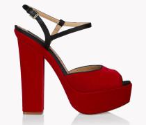 Velvet Platform Ziggy Sandals