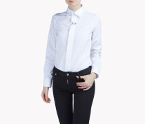 Boxy Pointed Collar Shirt