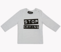 Stop Crying Long-Sleeve Hemd