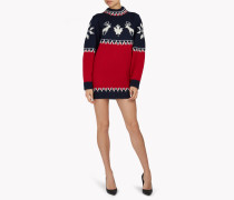 Intarsia Nordic Deers Mini Dress