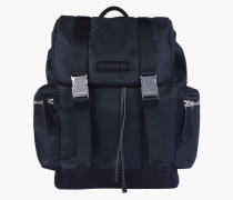 Leather Trimmed Backpack
