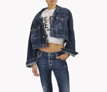 Be Cool Be Nice Over Denim Jacket
