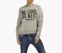 Be Cool Be Nice Mélange Sweatshirt