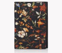 Floral Leather Credit Card Holder