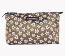Floral Jacquard Toiletry Bag